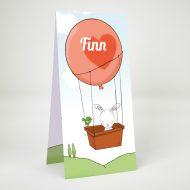 Geboortekaartje Birdbunny Luchtballon