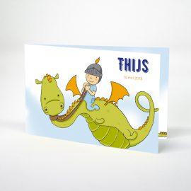 Geboortekaartje ridder en draak