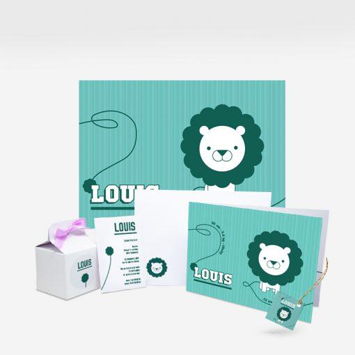 Collectie geboortekaatje leeuw
