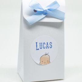 Geboortekaartje doosje lint