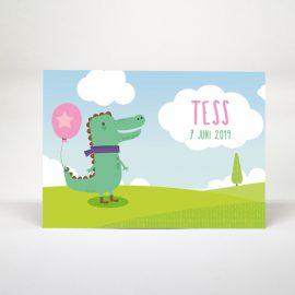 Geboortekaartje Mini&Me Krokodil