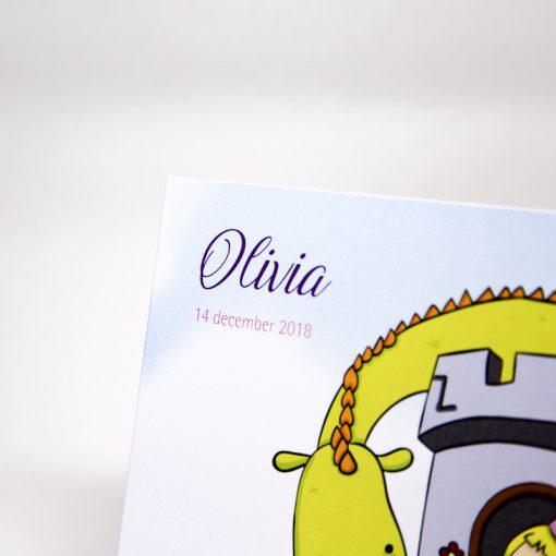 Geboortekaartje prinses detail