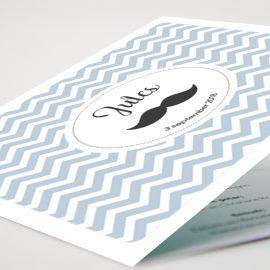Geboortekaartje Modern Moustache