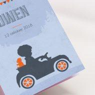 Geboortekaartje Silhouettes Auto