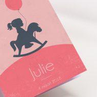 Geboortekaartje Silhouettes Schommelpaardje