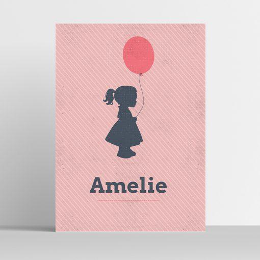 Poster Silhouette Ballon