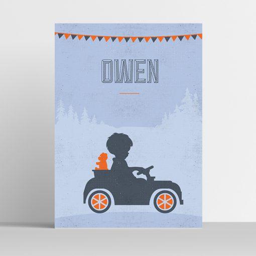 Poster Silhouette auto