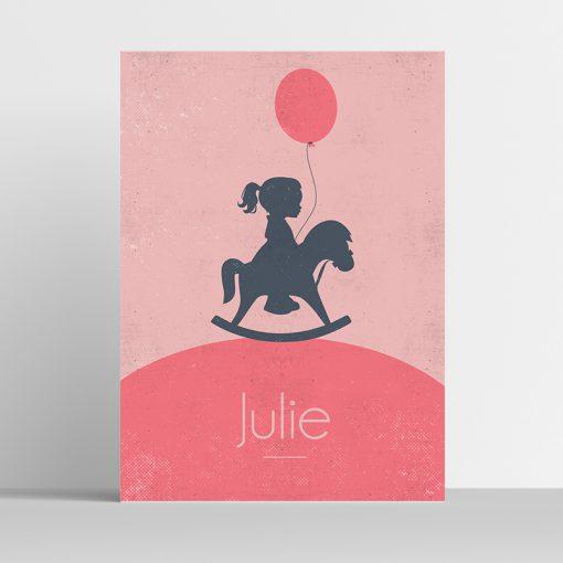 Poster Silhouette schommelpaard