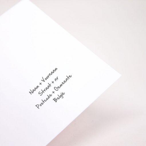 Enveloppe Adressen geprint